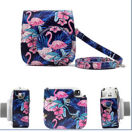 Camera Shoulder Strap Australia - Canvas Case Bags for Fujifilm Instax Mini 9 Mini8 Mini 8Plus with Camera Shoulder Strap for Instax mini 8 9 Pouch Black Daisy