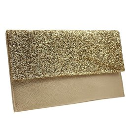 Discount birthday bags purses - Envelope Clutch Bag Women Leather Birthday Party Evening Bags For Women Ladies Shoulder Clutch Purse Female Sequins Bag