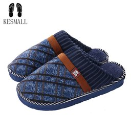 b2aa66b50 KESMALL Winter Home Slippers Men Footwear Comfortable House Indoor Slippers  Male Slipper Warm Soft Shoes Big Size 48 WS282