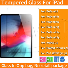 Discount anti glare for ipad - Tempered Glass Screen Protector for iPad mini 1 2 3 4 ipad 2 3 4 5 6 7 ipad pro 9.7 10.5 bulk sale in opp bag dhl free s