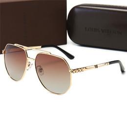 Hexagon sunglasses online shopping - High quality luxury Designer oversized women Sunglasses Driving men Vintage UV400 glasses metal hexagon Sunglasses with box