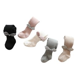 Wholesale dance pantyhose resale online - Autumn spring Baby Tights Newborns Baby Girls Pantyhose Kid Knitted Bright wire Bow Princess Dance soft knitting Tights