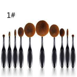 $enCountryForm.capitalKeyWord Australia - Ten Pcs Toothbrush Type Makeup Brush Beauty Brush Beauty Professional Makeup Brush Beginner Easy On The Makeup