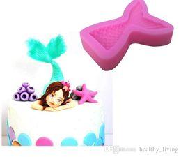 $enCountryForm.capitalKeyWord Australia - Christening Mermaid Tail Silicone Mold Fondant Cupcake Cake Decorating Baking Tools Handmade Soap Mold Fish Fork Tail