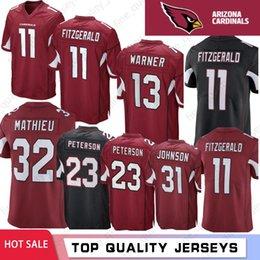 3e7549237 11 Larry Fitzgerald 100% Stitched Arizona Jersey Cardinals 3 Josh Rosen 13  Kurt Warner 31 David Johnson 32 Mathieu