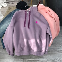 Korean autumn clothes online shopping - Hoodies Women Autumn Winter Female Plus Velvet Korean Style Soft Loose Students Big Size Hooded Long Sleeve Womens Clothing Chic
