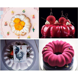 Cupcake Muffins Cake Australia - 3D Chocolate Dessert Mould Round Petal Flower Shape Silicone Cake Mold 3D Cupcake Jelly Pudding Cookie Muffin Soap Mould Baking DIY Mould