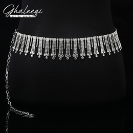 $enCountryForm.capitalKeyWord Australia - Belly dance waist chain new 2019 chain tassel drill white diamond waist anti-scrape dance acrobatics