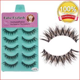 Packed False Eyelashes Wholesale Australia - False Eyelashes Handmade Natural Red Cherry 5 pairs pack 12 Long Professional makeup Big eyes bea130