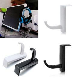 Discount headphone stands - Hanger Hooks Practical Headset Headphone Holder Hooks Hanger Wall PC Monitor Stands Door Key Accessory Home Storage Tool