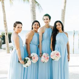 $enCountryForm.capitalKeyWord NZ - Custom Made Bridesmaids Dresses 2019 Simple Style Floor-length Soft Chiffon Bridesmaid Dress with Slim Sash Wedding Party Gowns