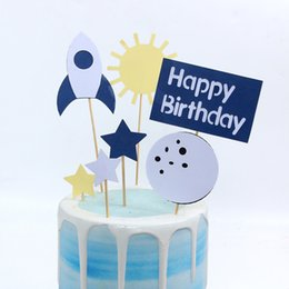 $enCountryForm.capitalKeyWord Australia - 2 Sets Outer Space Happy Birthday Cake Topper Lovely Cake Picks Cupcake Toppers Decor Party Supplies Kids Birthday Baby Shower