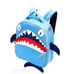 $enCountryForm.capitalKeyWord NZ - 3d Shark Cartoon Girls Backpack High Quality Cute 3d Children's Shoulder Bag Cartoon Backpack School Bags Sj016