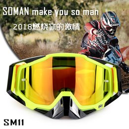 race bike brands 2019 - High Quality Motorcycle Goggles SOMAN Brand ATV Casque Motocross Glasses Racing Moto Bike Cycling CS Gafas Sunglasses ch