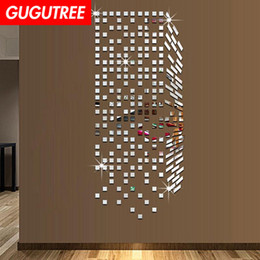 crystal mirror art Canada - Decorate Home 3D geometry cartoon mirror art wall sticker decoration Decals mural painting Removable Decor Wallpaper G-241