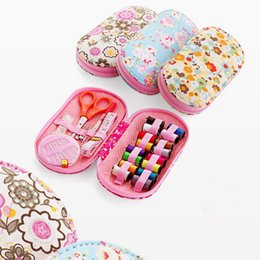 diy tool sets Australia - HOT Portable Mini Sewing Kit Box with Needle Threads Pin Scissor Set Sewing Box Home Traveling Handwork DIY Tools LSF99