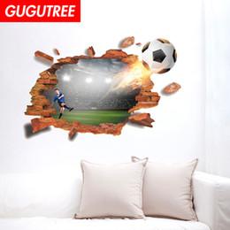 $enCountryForm.capitalKeyWord Australia - Decorate home 3D football cartoon art wall sticker decoration Decals mural painting Removable Decor Wallpaper G-835