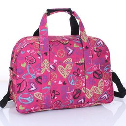 Green Plastic Straws Australia - Nice Women Printing Travel Bags Handbag Waterproof Luggage Men Travel Duffle Bag Large Capacity Lady Bags Shoulder