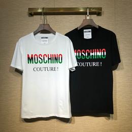 702ca7dc2b5 Marca de diseñador Camiseta para hombre Camiseta de lujo Carta de moda Oso  Patchwork clásico Camisetas Algodón Ropa Casual Tee Tops 2019 primavera