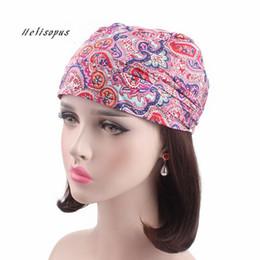 Scarfs Cotton Australia - Helisopus New Cotton Head Wrap Women Printed Chemo Cap Scarf Bohemian Style Summer Hat Soft Bandanas Fashion Headwear