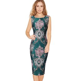 Vfemage Women Elegant 3D Flower Jacquard Fabric Casual Party Evening Mother  of Bride Special Occasion Sheath Bodycon Dress 1973 8a38a263c8b3