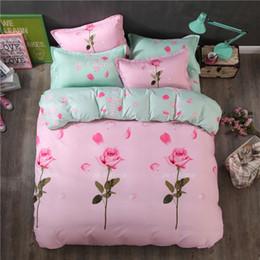 $enCountryForm.capitalKeyWord Australia - 3d Rose Bedding Sets Floral Bed Set Pink Bedding Set Single Queen King Size Flower Bed Cover Sheets Linen Bird