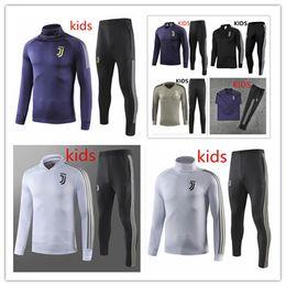 a6f9ef5a82d 2018 2019 Juventus kids jacket Training suit 18 19 RONALDO DYBALA child  Survetement da calcio boys juve football Sportswear tracksuit