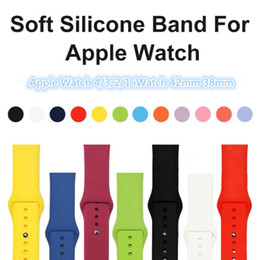 $enCountryForm.capitalKeyWord Australia - 28 Colors Silicone Sport Band Replacement For Apple Watch 4 3 2 1 Band Wrist Strap With Adapters Accessories 40mm 44mm 42mm 38mm