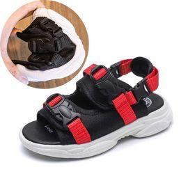 Boys Green Shoes Australia - Black Boys Sandals 2019 Summer Kids Beach Shoes Toddler Sandal Red Boy Sandals Non Slip Children Shoes Green #27