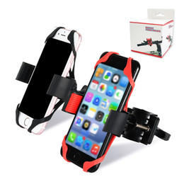 China Universal Bike Bicycle Motorcycle Handlebar Mount Holder Phone Holder With Silicone Support Band For Iphone 6 7 plus Samsung s7 s8 edge suppliers