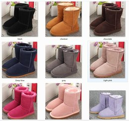 styles winter boot Canada - Winter Boots for kids shoes Boys and Girls Australia Style Kids Baby Snow Boots Waterproof Slip-on Children Winter Cow Leather Boots