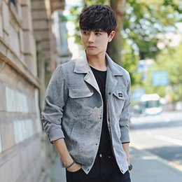 Korean Slim Clothes Male Australia - 2019 spring new coat male Korean version of the trend of youth Slim handsome jacket men's corduroy clothes