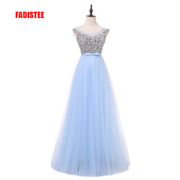 $enCountryForm.capitalKeyWord Australia - New arrival luxury long style dresses bling beading tulle evening dresses prom party crystal pearls floor length