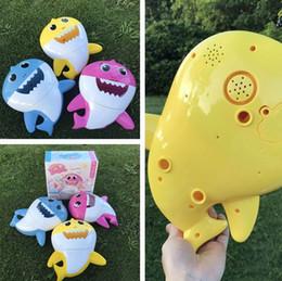 $enCountryForm.capitalKeyWord Australia - Baby Shark Bath Bubble Maker With Music Kids Bath Toy Pool Swimming Bathtub Soap Machine Shower Companion 5072