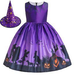 Robes foR kids online shopping - halloween dress girl vestido cosplay kids dresses for girls pumpkin costume infantil robe elbise clothes toddler meisjes kleding