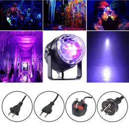 Rotating Disco Ball Light Australia - UV LED Magic Rotating Ball Light,LED Stage Effect Light Disco Club Bar DJ Show Party Lighting