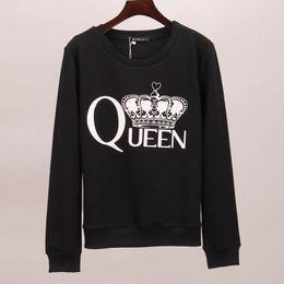 Crown Tee Australia - Sakura sweatshirt hoodies women queen crown printed tracksuits long autumn winter tracksuit hoodie tees women woman tops