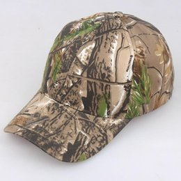 fitted ball caps wholesale Australia - Camouflage Jungle Female Male Sun Block Baseball Cap Summer Outdoor Hunting