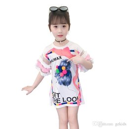 $enCountryForm.capitalKeyWord Australia - New Girls Summer Korean Cartoon Short Sleeve T-shirt Hip Skirt Girls Westernized Dress Baby Casual Dress