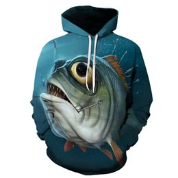 95a4c183ce7 Fish Print Hoodies 3d Anime Men Hoodies Male Sweatshirts Women Brand  Pullover Fashion Tracksuits Drop Ship Hoodiest Asian Size