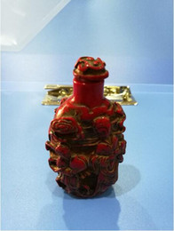 Folk Arts Australia - Collection China Folk old beautifully carved Chinese Red Coral snuff bottle A3