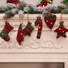 $enCountryForm.capitalKeyWord Australia - 1PC Christmas Tree Pendant Xmas Crutches Boots Gloves Hanging Drop Ornaments Christmas Home Decoration