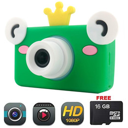 Video Camera Full Hd Lens NZ - Camera lens for Kids Cute Cartoon Toy Camera HD 8MP Video Digital Camera Camcorder for Girls and Boys Includes 16gb microSD Card