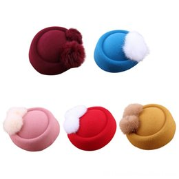 felt hats children UK - Baby Girls Hipster Joker Pearl Wool Felt Beret Multicolor Painter Cute Hat for Children Caps & Hats Accessories 2019