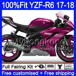 Pink yamaha r6 online shopping - Injection Body For YAMAHA YZF600 YZF R6 YZFR6 Gloss pink hot HM YZF YZF R YZF YZF R6 Fairings Kit Gifts