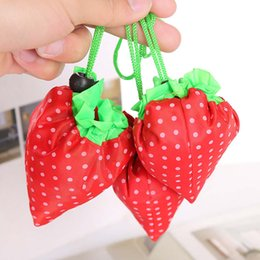 $enCountryForm.capitalKeyWord Canada - Hot selling strawberry shaped polyester shopping bags gift bags for Christmas with large capacity tote bags free shipping