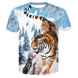 3d Character Printed Men S T Shirt NZ - animal tiger 3D Graphic Print Casual Short Sleeve T-Shirt Design Women Men Fashion Tees Tops Creative Character T Shirt Plus Size 7XL