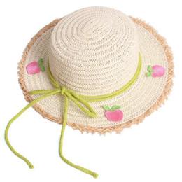 cdc83d5453b99 Sweet fruits Girls Straw Hat 2019 new Summer Fashion Girl Hats kids Sun Hat  Children Bucket Hat Kids Cap Kids Hats Girls Caps A4158