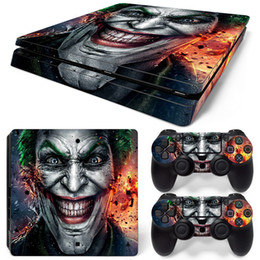 Playstation console skins online shopping - Fanstore Skins Sticker Joker Design Protector Cover for Playstation PS4 Slim Console and Remote Controller Popular Design