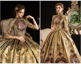 Renaissance faiRy costumes online shopping - 100 real luxury vintage rococo princess queen fairy cosplay ball gown royal princess Medieval Renaissance Victoria dress Belle ball